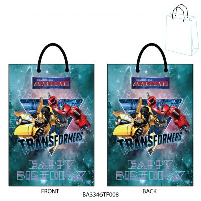Gift Bag Large - Hasbro - Transformer - Happy Birthday