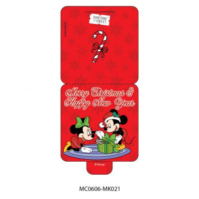 Mini Card - Disney - Mickey & Minnie Mouse - Merry Christmas & Happy New Year