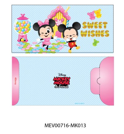 Money Envelope Medium - Disney - Mickey & Minnie Mouse - Sweet Wishes