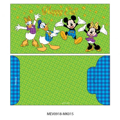 Money Envelope Large - Disney - Mickey Minnie Mouse & Donald Duck, Daisy Duck - Happy Eid