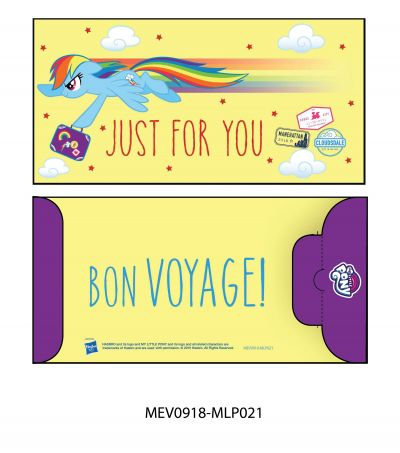 Money Envelope Large - Hasbro - My Little Pony - Rainbow Dash - Just For You