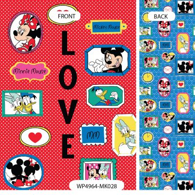 Wrapping Paper - Disney - Mickey Mouse & Friends - Mickey Mouse, Minnie Mouse